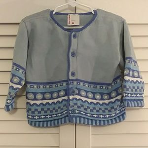 Hanna Andersson size 80 blue, purple sweater